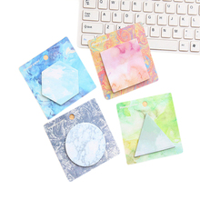 1pack/lot Colorful Creative Shape Personalized Painted N Times Geometric Notes Four Choices Kawaii Stationery