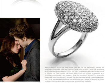 1PCS Fashion Wedding Rings The Twilight Breaking Dawn Bella Rings Engagement Ring Jewelry For Women 5.7g image