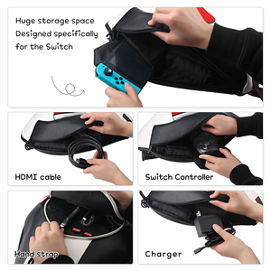Image 5 - OIVO Switch Storage Couple Bags for Nintend Switch Portable Protective Big Capacity Carry Bag Soft PU Leature Backpack for NS