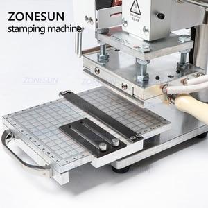 Image 4 - ZONESUN חם לסכל Stamping מכונת למכס לוגו Slideable Workbench עור הבלטות Bronzing כלי עבור עץ PVC DIY ראשוני