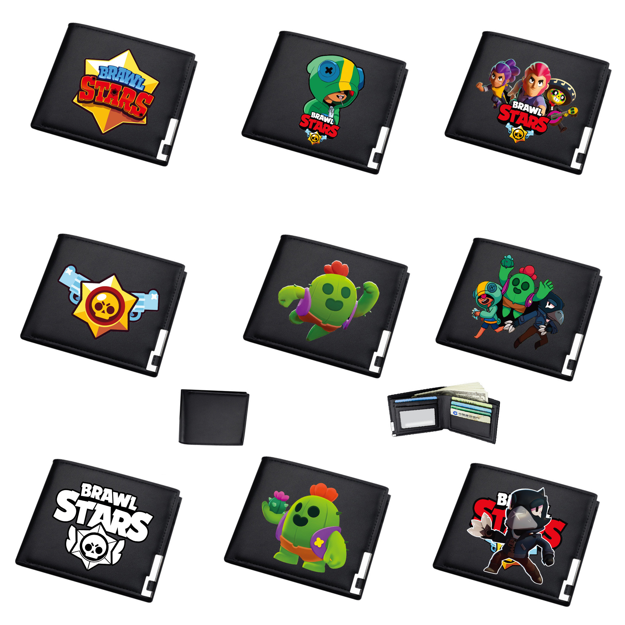 BrawlING Games StarS Wallet Hot Sale Animated Cartoon Fashion Brand Purse Young Boys Purse Personality Man Bad Card Coin Wallet