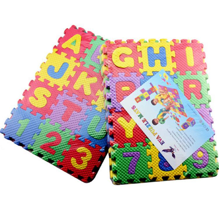 RCtown New 36 Pieces Child Cartoon Letters Numbers Foam Play Puzzle Mat Floor Carpet Rug For Baby Kids Home Decoration
