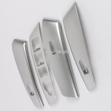 цена на For Hyundai Ix35 2013 2014 ABS Chrome Trim Car Window Lift Switch Button Armrest Decoration Cover 4pcs/set Car Interior Moldings