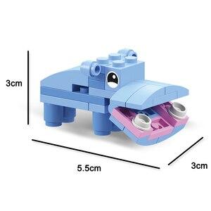 Image 4 - 동물의 세계 12 in 1 빌딩 블록 벽돌 세트 코끼리 사자 호환 Lepining 생성자 어린이를위한 교육 장난감