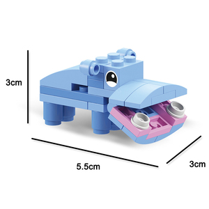 Image 4 - Animal world  12 in 1 Building Block Brick Set Elephant Lion Compatible Lepining  Constructor Educational Toy for Children