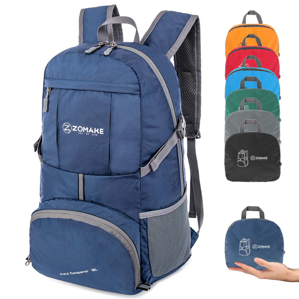 35L Portable Folding Unisex Backpack Outdoor Sport Bag Rucksack With Reflective Stripe Men Hiking Travel Bag for Camping Cycling Climbing Bags    - AliExpress