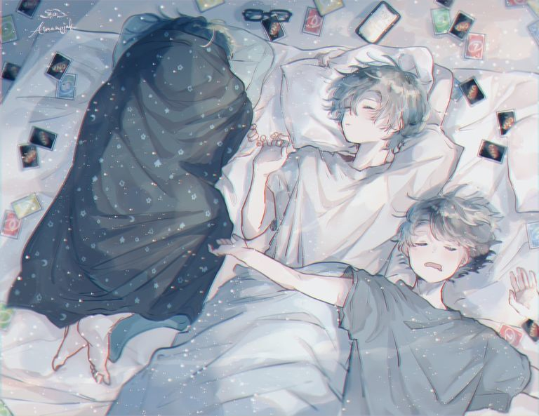 "【Pixiv站精品画师推荐】""I Want to Protect This Sleeping Face"" Drawings – Sweet Dreams!-四斋社"