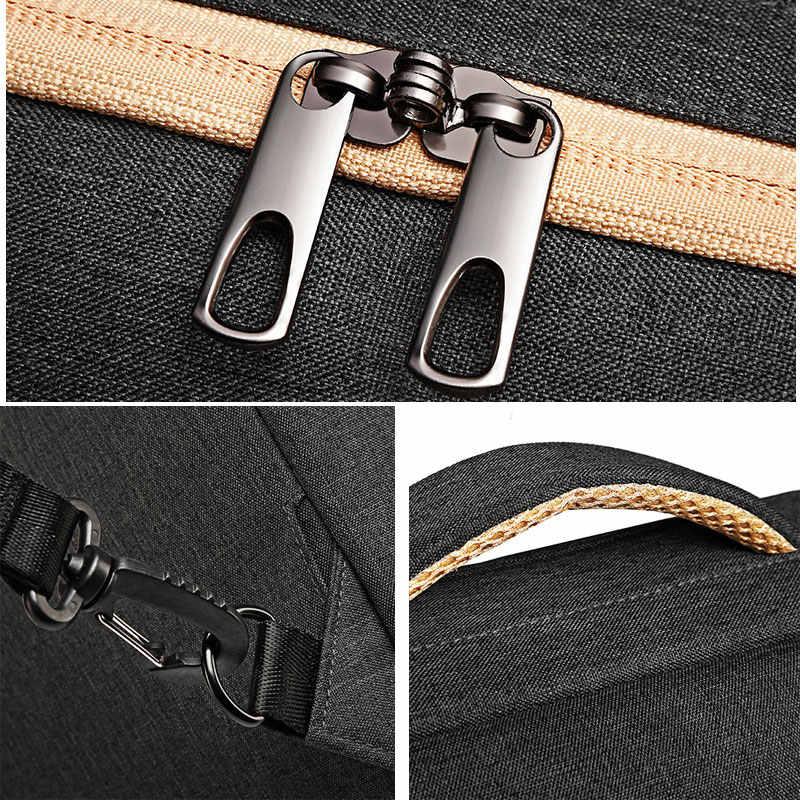 متعددة الوظائف مكافحة سرقة حقيبة أعمال الرجال للماء السفر محمول قفل بكلمة مرور عودة حزمة الترفيه خليط اليد حقيبة B023