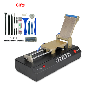 цена на LY 971 Vacuum Pump Universal OCA Film Laminating Machine free 14 in 1 repair tool for iphone LCD Glass Screen Protector 220 110V