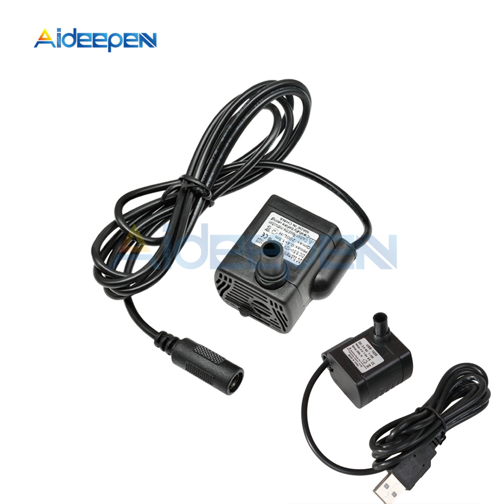 DC-1020 DC 5V 12V 3W Mini Micro Submersible Water Pump 200L/H Flow Rate 1.5m Aquarium Fish Tank Fountain Pond Pump