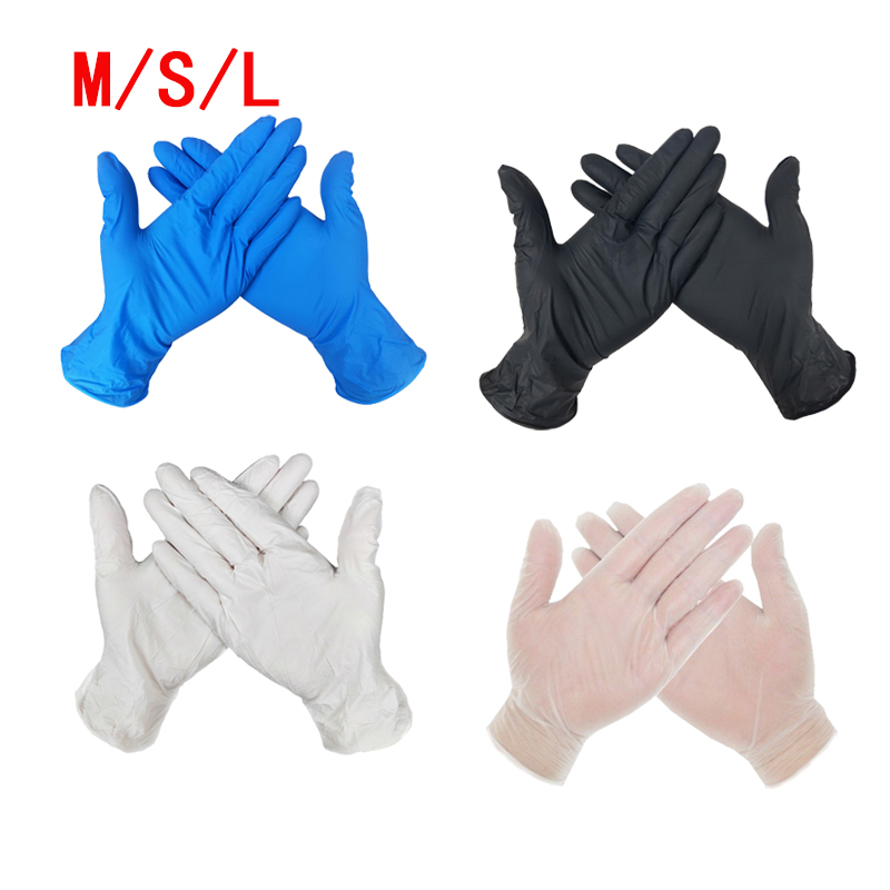 Disposable Black Gloves 100/20pcs Household Cleaning Washing Gloves Nitrile Laboratory Nail Art Tattoo Anti-Static Gloves