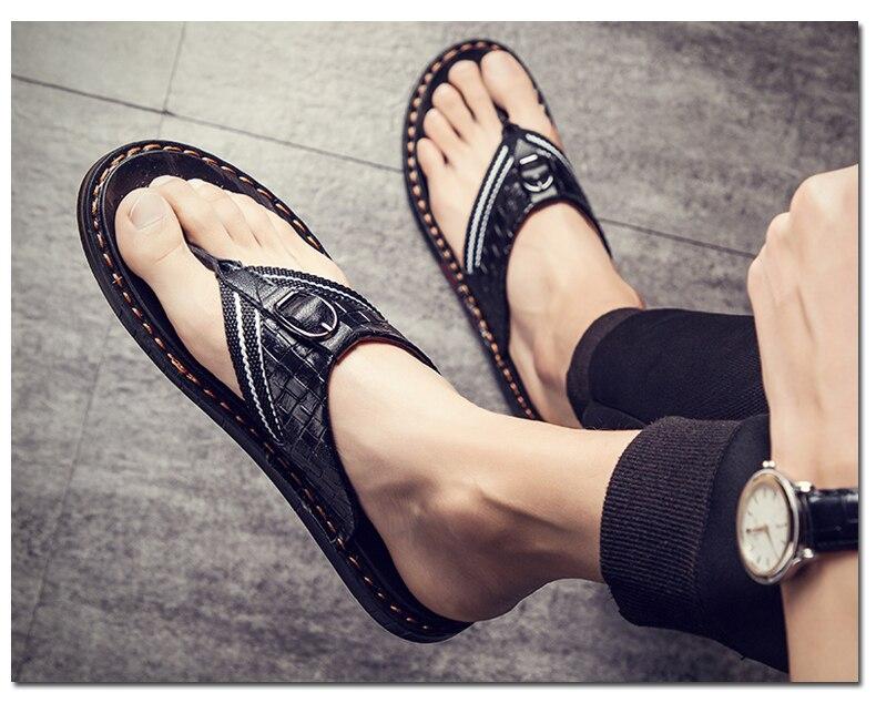 marca flip flops para homens couro genuíno