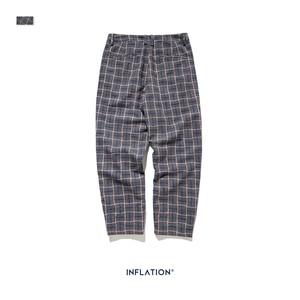 Image 5 - INFLATION бренд ретро Клетчатые Шерстяные мужские брюки Harajuku Свободные прямые повседневные мужские брюки 2020 AW уличный стиль мужские брюки 93362W