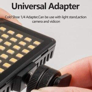 Image 4 - TELESIN Vlog remplir lumière LED chaussure froide Mini vidéo lumière couleur filtre Portable éclairage photographique pour Smartphone DSLR reflex lampe