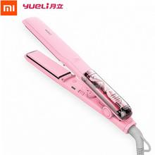 Original Xiaomi Yueli Professional Vapor Steam Hair Straightener Curler Salon Personal Use Hair Styling 5 Levels adjustable Temp