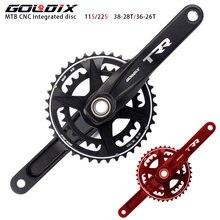 Goldix шатун со звездами для велосипеда ket 38/28t алюминиевый