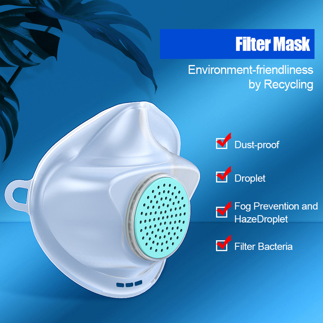 Replaceable +30 filters non-disposable mouth safety face mask anti dust air pollution gas pm2.5 Influenza bacteria Flu care mask 2