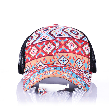 2020 Ponytail Baseball Cap For Women Distressed Washed Cotton Trucker Caps Casual Summer Snapback Hat Mother Caps
