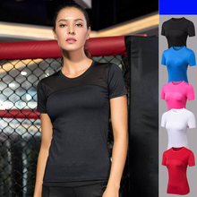 Yoga T-shirts Women T Shirts Short Sleeve Sport Top Fitness Women Workout Yoga Top Gym Tee Shirt Femme Black White Blue Rose Red недорого