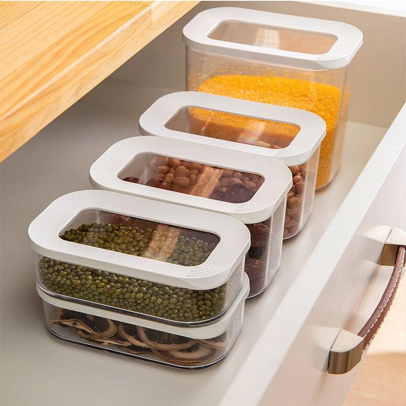 Новый ящик для хранения, пластиковая банка для уплотнения пищевых продуктов, уплотняет кухню, чтобы получить контейнер|Бутылки, банки и коробки|   | АлиЭкспресс