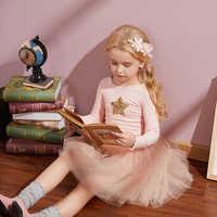 Las muchachas del bebé unicornio, vestido de otoño invierno manga larga vestidos infantiles para niñas princesa vestido Casual 3-8yrs de la ropa de los niños