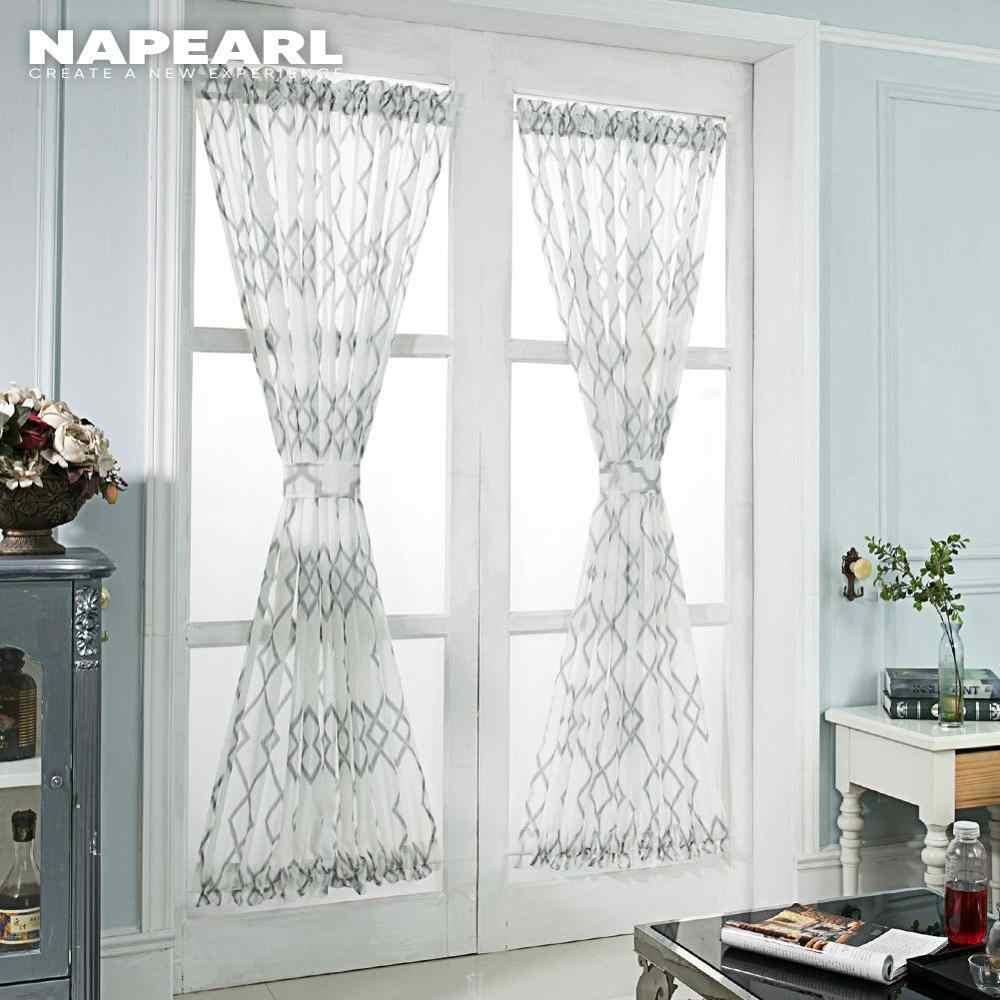 Napearl Europaischen Stil Kurze Fenster Vorhange Fur Tur Vorhange Billig Fertige Kuche Elegante Einzigen Panel Wohnkultur Vorhange Aliexpress
