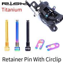 2pcs RISK Titanium M4x26mm Caliper Bolts Ultralight Bicycle Oil Disc Brake Pads Thread Pins for SHIMANO XT Hydraulic Disc Brake