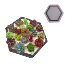 Hexagon Shaped Cement Concrete Flowerpot Mold Concrete Plant