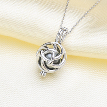цена на 925 sterling silver natural 8-10mm round shaped Essential Oil Diffuser Necklace Locket Pearl Cage Pendant accessory DIY Jewelry