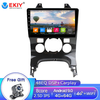 EKIY 9 IPS Car Multimedia Player Autoradio For Peugeot 3008 2009-2015 Android 9.0 GPS Navigation DSP 4GB+64GB Carplay WIFI DVD image