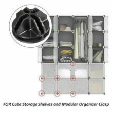 Buckle Cube Shelf Wardrobes-Storage Storage-Cabinet Modular DIY Connector 5 5PCS Firmly