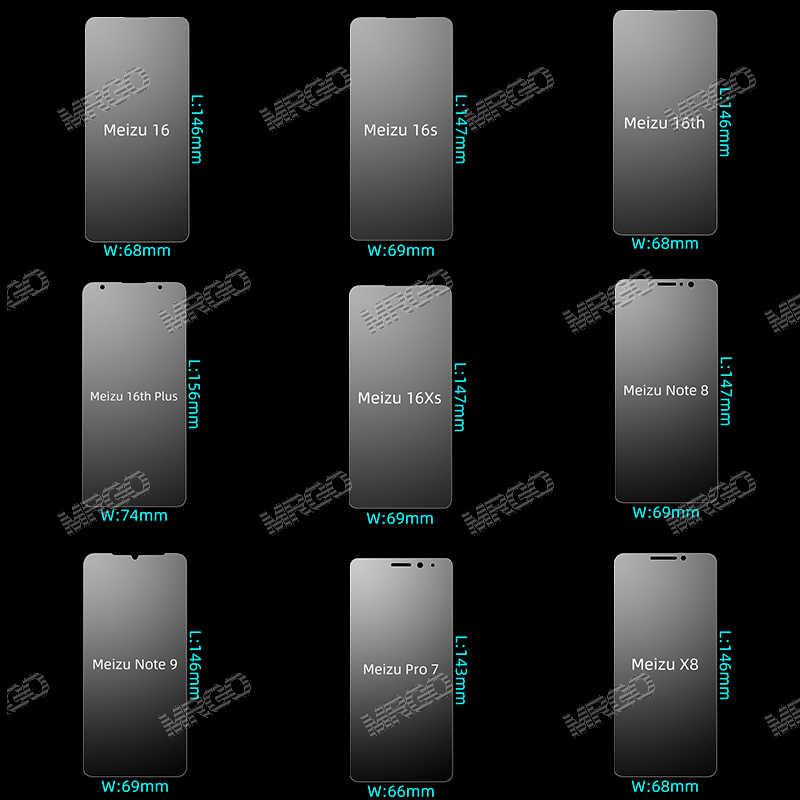 Vidrio templado para Meizu Note 8 9 M3S M3 16 Protector de pantalla Protector de vidrio de seguridad para Meizu 16S Pro 7 Plus 16th X8 16T