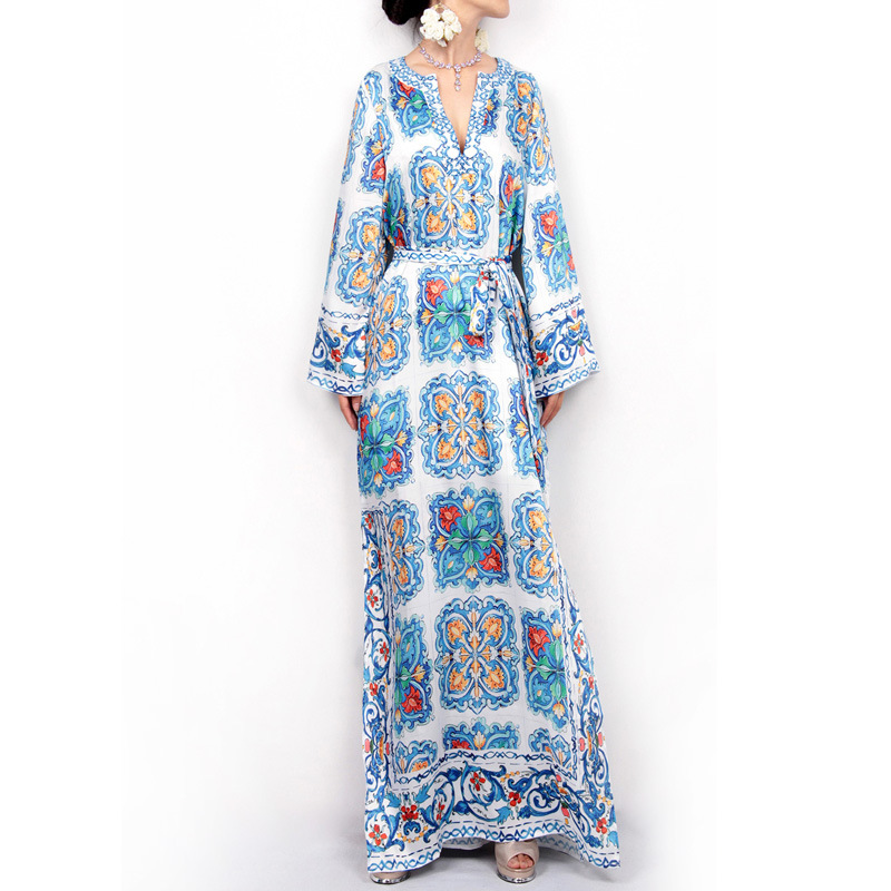 African Dresses For Women Dashiki Long Maxi Dress 2020 Summer Plus Size Dress Ladies Traditional African Clothing Fairy Dreess