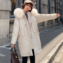 Fashion Outerwear Long Sleeve Hooded Jackets Cotton-padded Pockets Bandage Coats Hooded High Quality Warm Cotton Coats New 9.26 women fashion outerwear long cotton padded jackets pocket faux fur hooded coats female hooded jacket high quality jacket y829