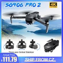 ZLRC SG906 PRO 2 GPS 5G WIFI FPV 4K HD Cámara Drone Cardán de tres ejes Sin escobillas Plegable RC Single Quadcopter sin controlador dron drone 4k profesional drone 4k mini drone mini cámara drone gps fpv drone juguete