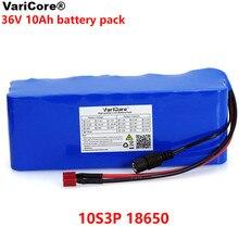 VariCore 36 в 10000 мАч 500 Вт Высокая мощность и емкость 42 в 18650 литиевая батарея для мотоцикла электрического автомобиля велосипеда скутера с BMS