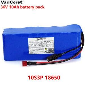 Image 1 - VariCore 36V 10000mAh 500W ad alta potenza e capacità 42V 18650 batteria al litio moto auto elettrica bicicletta Scooter con BMS