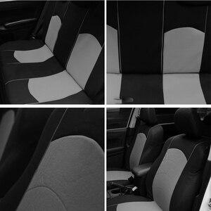 Image 2 - רכב מושב כיסוי 9PCS ו 4PCS צמיג מסלול עיצוב מלא סט אוניברסלי גודל להתאים כרית אוויר מושב כיסוי מגן