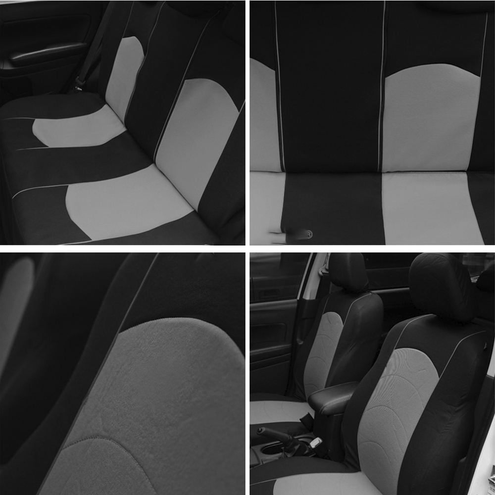 Image 2 - Car Seat Cover 9PCS And 4PCS Tire Track Design Full Set Universal Size Fit Airbag Seat Cover Protector-in Automobiles Seat Covers from Automobiles & Motorcycles