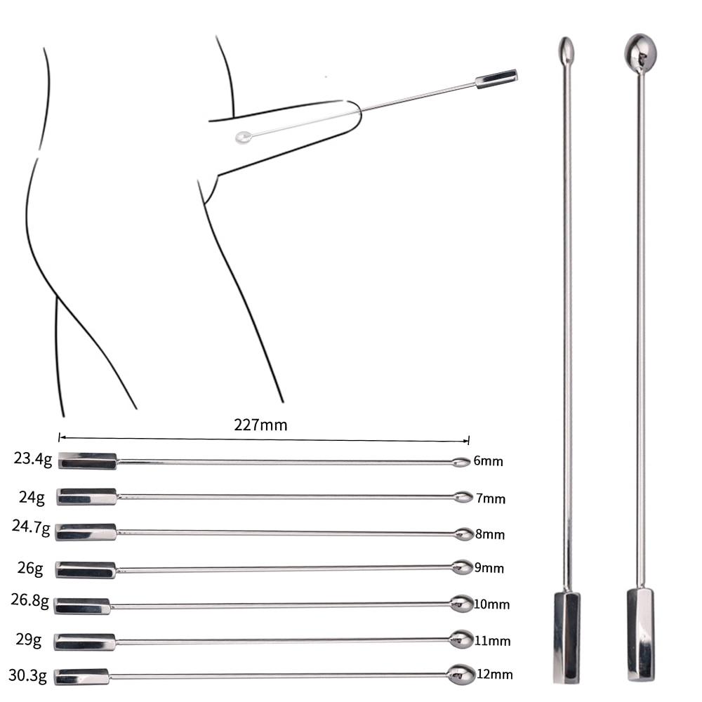 Metal Urethral Catheter Penis Male Urethral Dilator Penis Plug Urethral Sounding ToyNo Vibrator Adult Products For Men Sex Shop