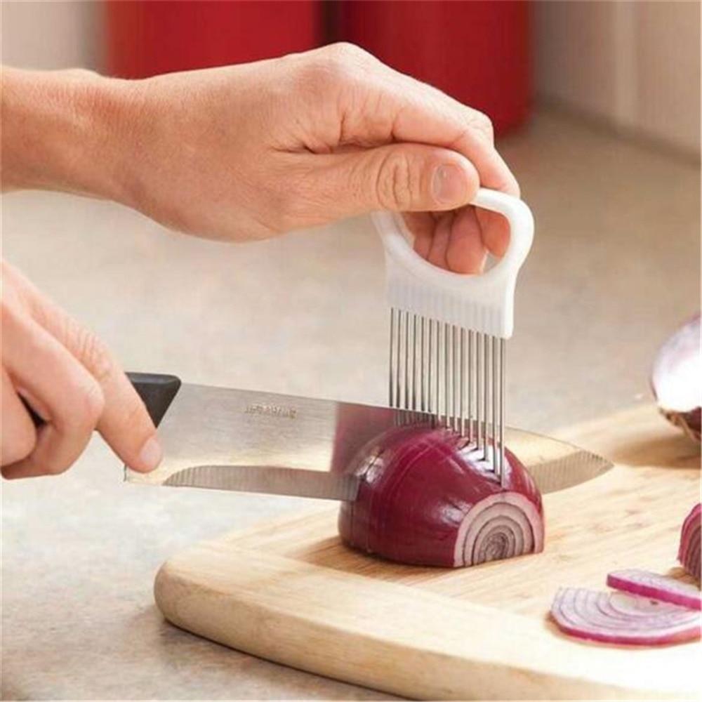 Multifunctional Portable Vegetable Slicer Stainless Steel Onion Slicer Fruit Vegetable Slice Needle Cut Meat Tomato Potato