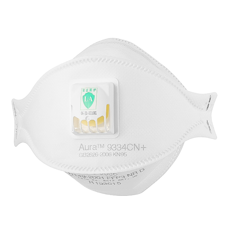 FFP3 9334 Dust Safety Mask Anti-PM2.5 Filter Oily Non-oily Particulates Aura Respirator Protective Mask Haze Weather KN95 MASK