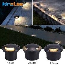 Lámpara LED subterránea impermeable IP67 para exteriores, luz empotrada para suelo, patio, camino, paisaje, cubierta, 1/2/3/4 lados, 3W