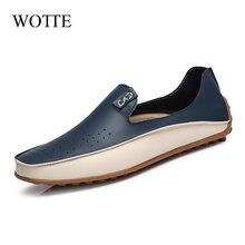 Wotte кожаная мужская обувь повседневные лоферы; Весенняя на