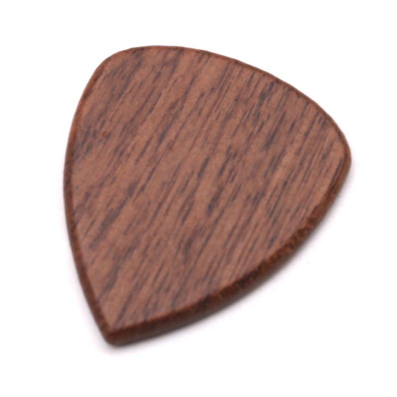 2 Pcs Black Walnut Wood Skeleton Acoustic Bass Guitars Pick Paddles Guitar Playing Accessories Skeleton Acoustic Gift