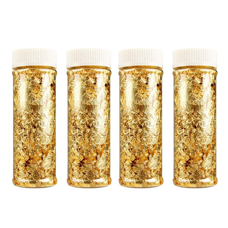 1PCS Edible Grade Genuine Gold Leaf Schabin Flakes 2g 3g 24K Gold Decorative Dishes Chef Art Cake Decorating Tools Chocolates