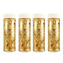 1 piezas de grado comestible de oro genuino de Schabin de 2g 3g 24K oro decorativo platos Chef arte herramientas de decoración de pasteles Chocolates