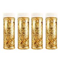 1PCS Essbare Grade Echtem Gold Blatt Schabin Flakes 2g 3g 24K Gold Dekorative Gerichte Koch Kunst kuchen Dekorieren Werkzeuge Schokolade