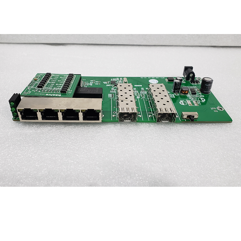 Reverse PoE Switch 4x10M/100M/1000M Port & 2 SFP Gigabit Ethernet Switch PCB Motherboard