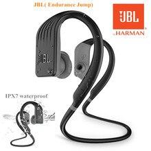Orijinal JBL dayanıklılık atlama kablosuz kulak spor kulaklık tek düğme ile Mic/uzaktan IPX7 su geçirmez önlemek düşen kulaklık